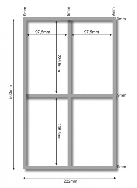 Besteckeinsatz für Schubladen mit geraden Zargen *Sonderanfertigung* Buche
