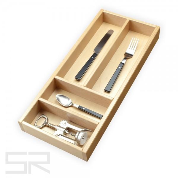 Besteckeinsatz für Schubladen mit gerade Zargen