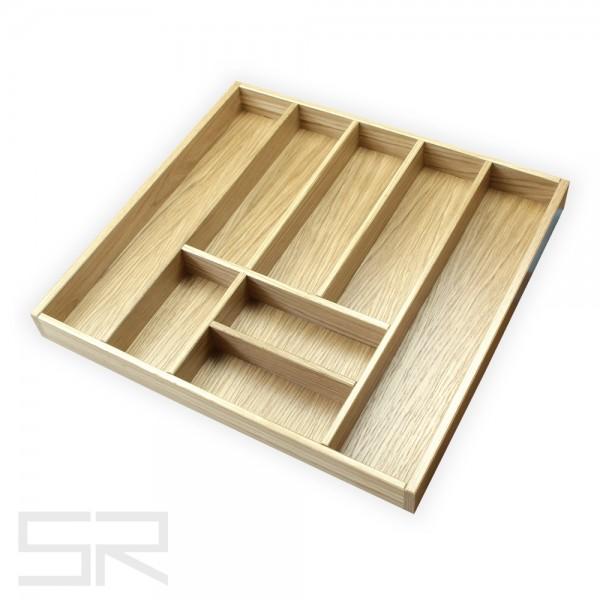 Besteckeinsatz für Schubladen mit schrägen Zargen. Eiche. *Sondermaß* 510x290mm